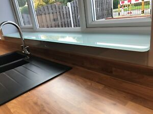 Image is loading Toughened-glass-window-cill-boards-window-sill-ledges & Toughened glass window cill boards / window sill ledges | eBay