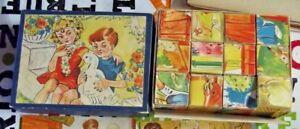 Ancienne-boite-de-cube-maternelle-jeu-educatif-par-l-039-image-Suede-la-Ferme-Oie
