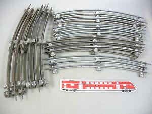 AM890-2-12x-Maerklin-Spur-0-Gleis-gebogen-12-A-12er-Kreis-elektr-Betrieb
