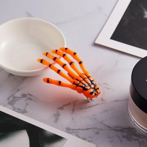 Fashion Paw Luminous Hair Clip Hairpin Skeleton Ghost Hand Halloween Accessories