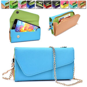 Womens-PU-Leather-Wallet-Case-Cover-amp-Crossbody-Clutch-for-Smart-Phones-MLUB25