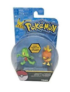 TOMY-Pokemon-TREECKO-vs-TORCHIC-Figure-Set-T18447-T18445-New-Rare-FREE-SHIPPING