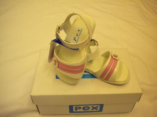 PEX BABY GIRL SANDLES MARIE  WHITE//PINK 12-18M 2 3 3.5