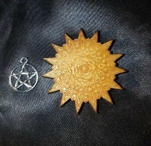 Pentadecagon Sacred Geometry Mandala Laser Cut Engraved with Pentagram charm