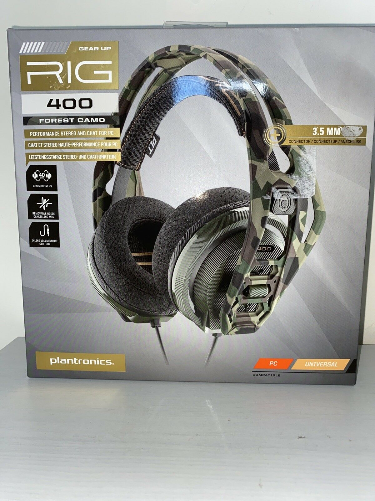 Plantronics Rig 400 Camo Gaming Headset for PC