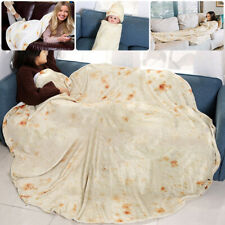 Kids Adult Burrito Tortilla Towels Blanket Swaddle Flour Throw Sleep Wrap