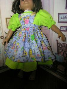 Green-Dress-Fairy-Tale-Print-Apron-2-piece-Dress-23-034-Doll-clothes-fits-My-Twinn