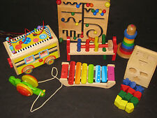 Waldorf Montessori Wooden Baby Toy Lot  Huge Developmental  Baby Toy Lot  #5
