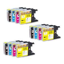 12 Pack Ink Set for Series LC71 LC75 Brother MFC J280W J425W J430W J435W J835DW