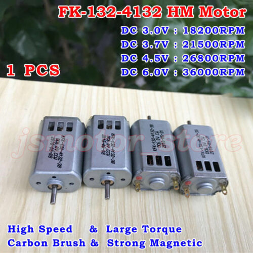 DC 3V 3.7V 5V 6V 36000RPM High Speed Mini FK-132 HM Motor DIY RC Drone Aircraft
