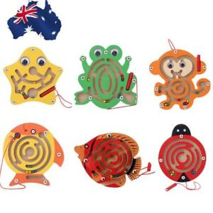 Children-Magnetic-Maze-Beads-Wooden-Educational-Toys-Small-Animal-Maze-Kids-Toy