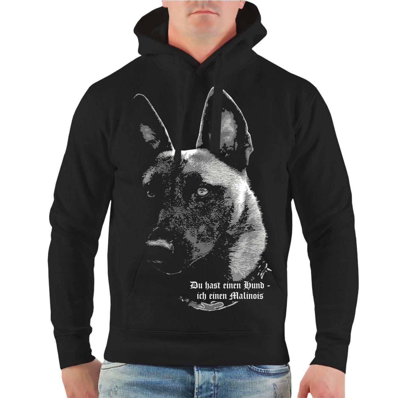 Kapuzenpullover Malinois Du hast einen Hund Rasse belgischer Schäferhund Hoodie