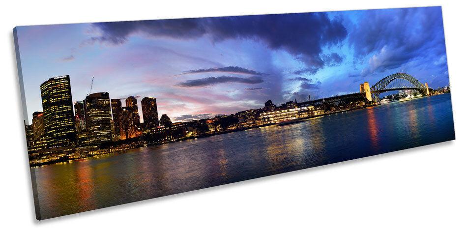 Sydney Harbour Australia NOTTE A MURO ARTE POKO POKO POKO incorniciato stampa e5a9ae