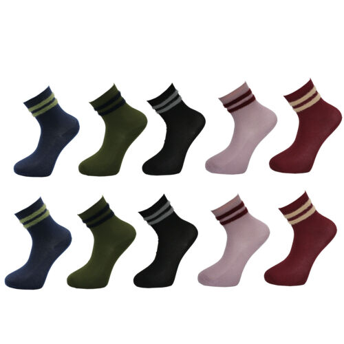 GOGO 10 Paar Damen Socken Warme baumwollsocken Bunte Gemusterte Atmungsaktiv