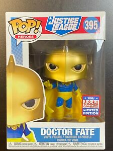 IN HAND FUNKO POP DC JUSTICE LEAGUE DOCTOR FATE #39 FUNKON SUMMER EXCLUSIVE SDCC