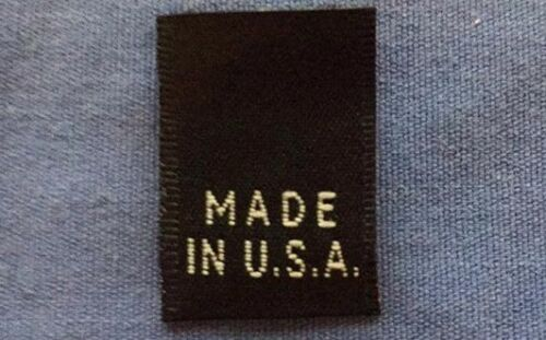 100Pcs Black Woven Clothing Size Tab Labels Made In U.S.A NO SIZE