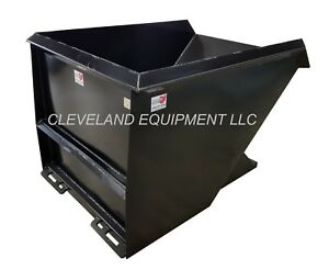 New 2 Cubic Yard Skid Steer Loader Dump Hopper Dumpster Attachment Bobcat Ebay