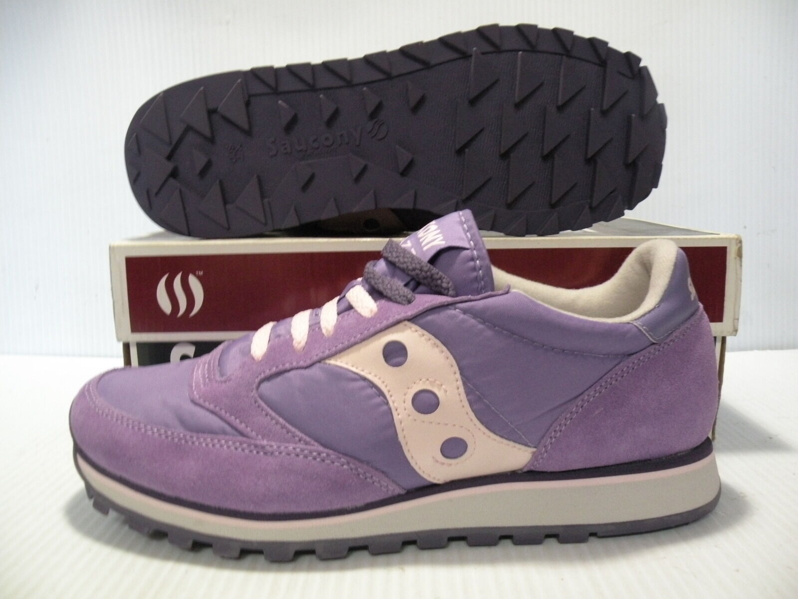 SAUCONY JAZZ S SERIES LOW SNEAKERS WOMEN SHOES PURPLE PINK 1785-8 SIZE 5.5 NEW