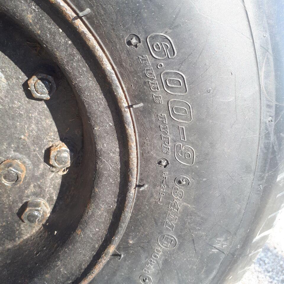 Fra bådvogn sælges 8 nye dæk ( 6.00 - 9 ) med f...