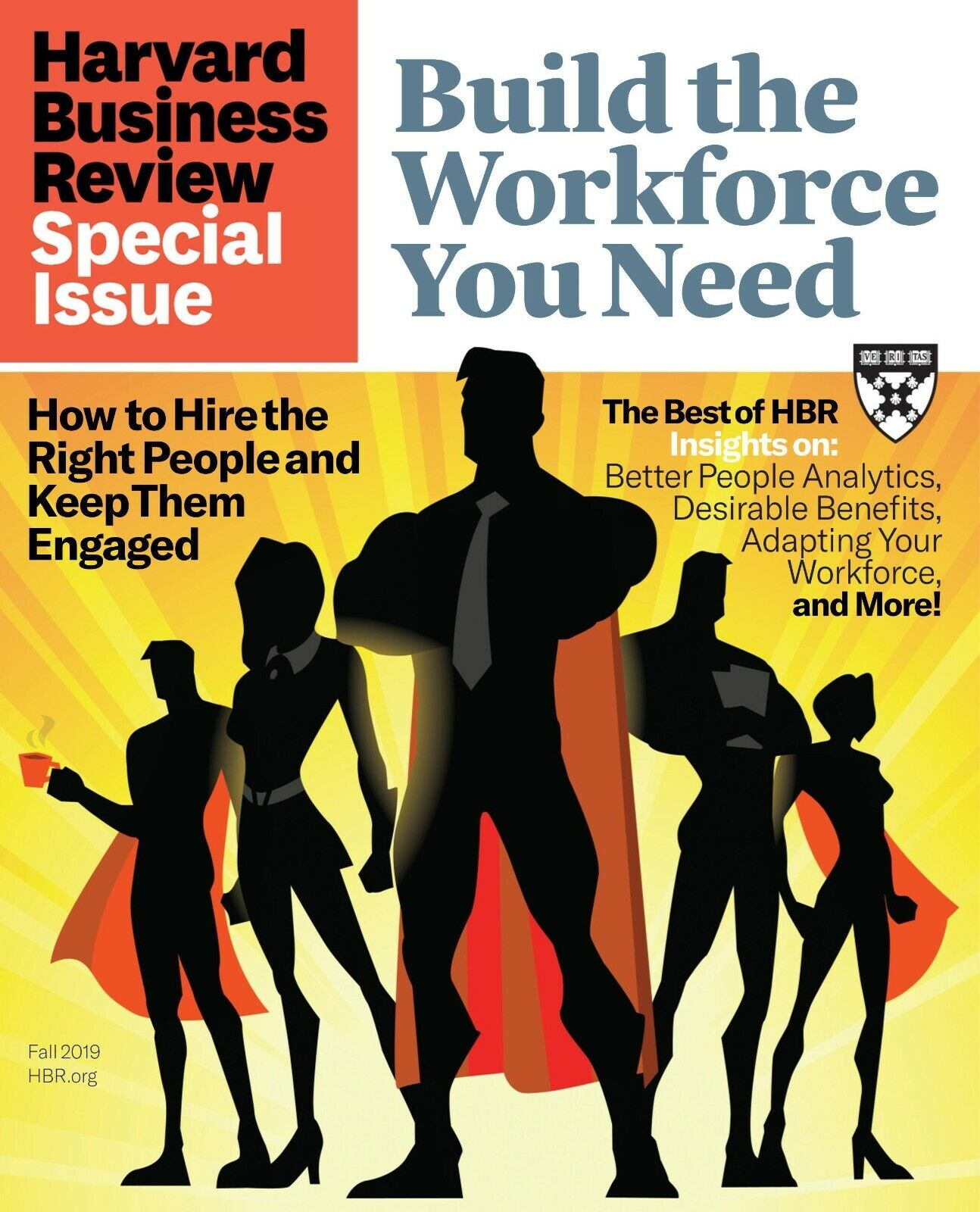 HARVARD BUSINESS REVIEW Fall 2019 ~ Build The Workforce You Need ~ FREE SHIP 2