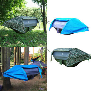 Travel-Outdoor-Camping-Tent-Hanging-Hammock-Bed-with-Mosquito-Net-amp-Rainfly