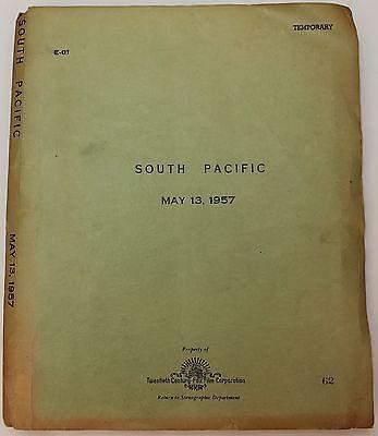 South Pacific -1957 Movie Script Screenplay -Oscar Winning War Romance Musical