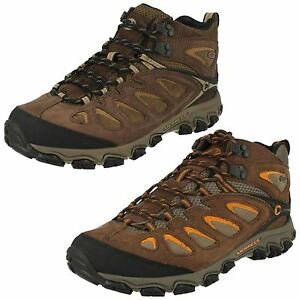 d41b426ed621 MENS MERRELL PULSATE MID WATERPROOF LACE UP LEATHER WALKING HIKING ...