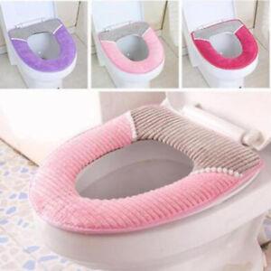 Bathroom Warmer Toilet Seats Closestool Washable Soft Seat Cover Pad Cushion G