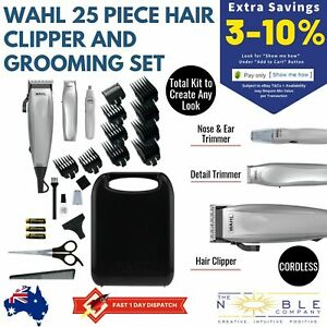 WAHL-Hair-Clippers-Cordless-Beard-Trimmer-Mens-Grooming-Hair-Kit-25pc-Electric