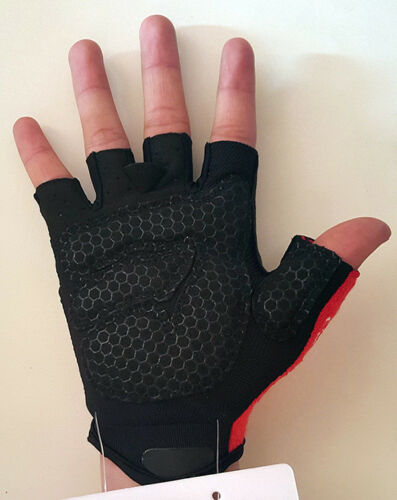 Same As Caste.. Cycling Fingerless Half Finger Gloves Cycle Mitts Silicone//GLE