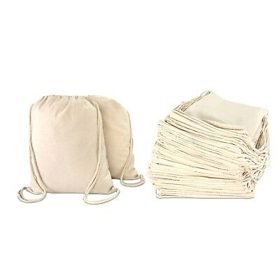 Dalix Cotton Drawstring Backpack Laundry Bags Bulk 50 Pack Mens Womens Ebay