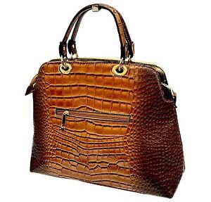 Marron Main Bag Cuir Leopard Or Panthère Vernis Tigre A Top Sac Serpent Chic Hit Sgxn5vqFCw