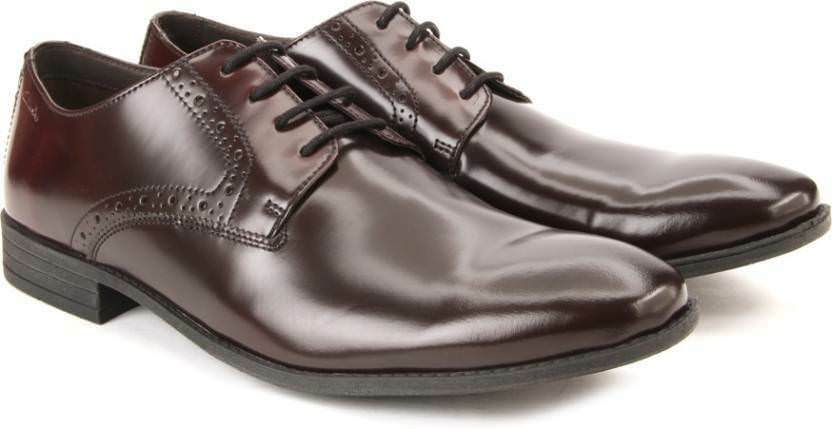 Clarks Clarks Clarks   Herren Chart Walk Maroon Formal Oxford Schuhes SIZE UK10 EUR44.5 US11 44a8b2