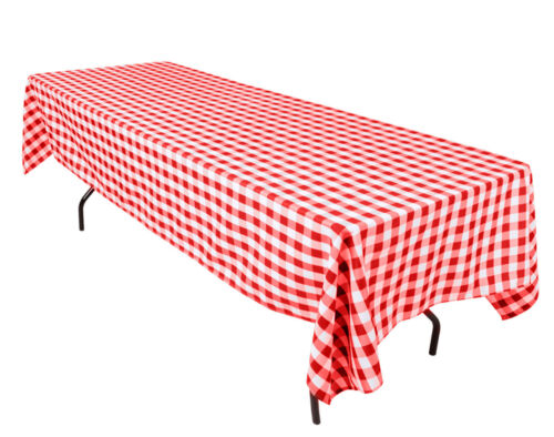 """Variety Colors Checkered Tablecloth Rectangular 54X72/"""" By Broward Linens"""