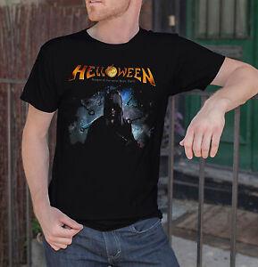 Helloween-Keeper-of-the-Seven-Keys-Men-Black-T-shirt-Metal-Band-Fan-Tee-Shirt