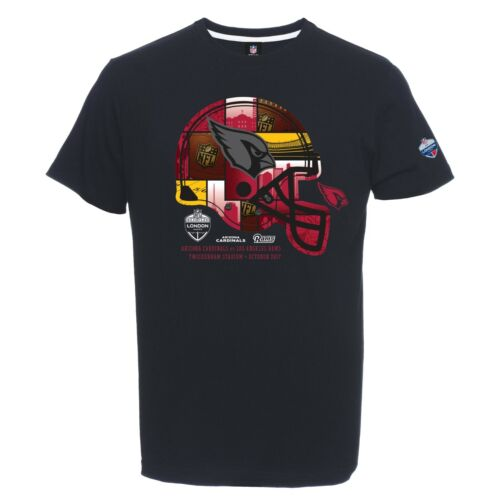 C87 Mens Medium Arizona Cardinals London Games 2017 Helmet T-Shirt