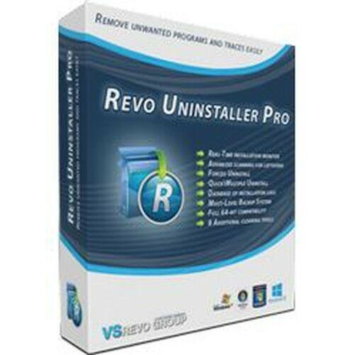 Uninstall programs easily,traces scanning,Forced unin. VS Revo Uninstaller,3 PC