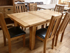 Vancouver Furniture 140 To 180cm Extending Oak Table Nb005 Ebay