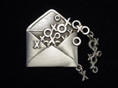 """/""""JJ/"""" Jonette Jewelry Silver Pewter /'ART NOUVEAU Woman w-Shooting Star/' Pin"""
