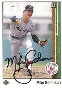 1989-Upper-Deck-Signed-38-Mike-Smithson-Red-Sox-Autograph-JSA-Pitcher
