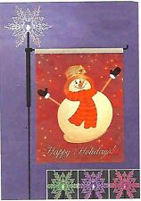 27in. Snowman Holiday Garden Flag with Lighted Color