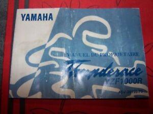 01 Manuel/notice Du Proprietaire/utilisateur/entretien Yamaha Yzf1000r Yzf 1000r H09gejnv-08010746-474916301