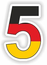 5 Sebastian Vettel Sticker Motorcycle Gas Tank Bumper Helmet Top Case Car Door