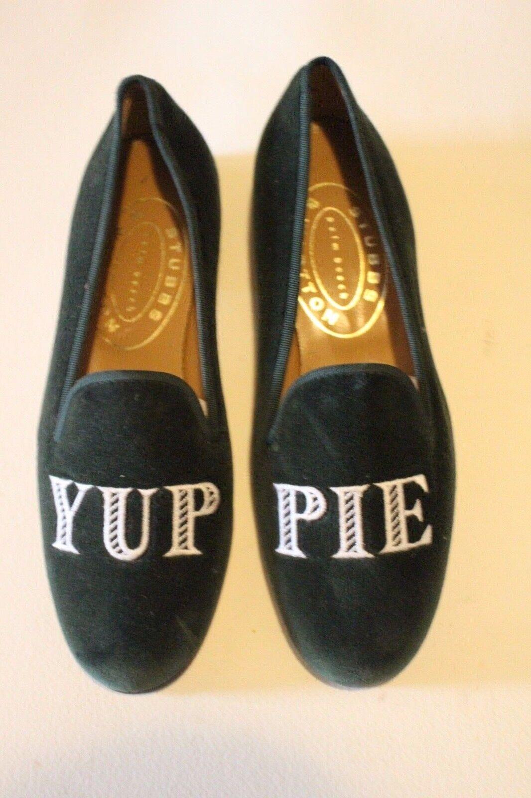 Terciopelo verde yuppie PREP Stubbs & Wootton Zapatillas para mujer Talla 7.5
