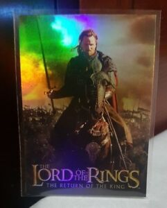 2003-TOPPS-LORD-OF-THE-RINGS-LoTR-RETURN-OF-THE-KING-2-ARAGORN-PRISMATIC-FOIL