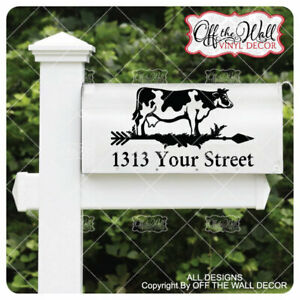 Includes-2-Farmhouse-Styled-Weathervane-034-COW-034-Mailbox-Lettering