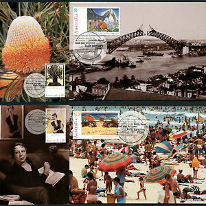 1996-Australia-Day-Maxi-Cards-Prepaid-Postcard-Maxicards-Stamps