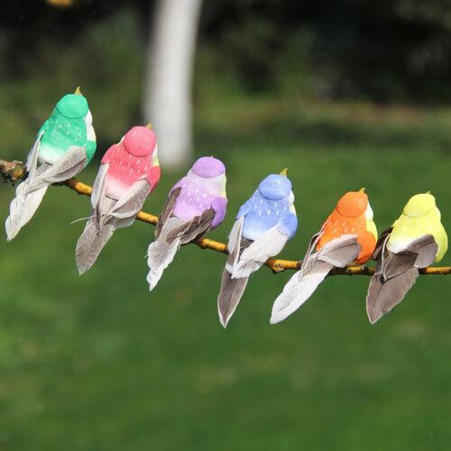12 x Artificial Foam Birds Figurines Ornament DIY Craft Home Garden Ornament