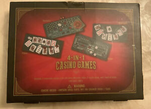 4-IN-1 Casino Games Poker Roulette Blackjack Craps 2 Reversible Casino Felt Mats