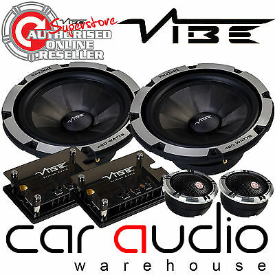 """Vibe BlackDeath6C-V6 840 Watts a Pair 6.5/"""" 2 Way Component Kit Door Car Speakers"""